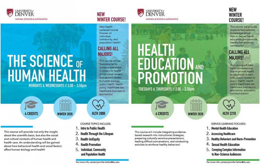 info graphics about new health courses