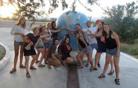 Field Quarter students visit the Tropic of Cancer during their travels through Mexico.