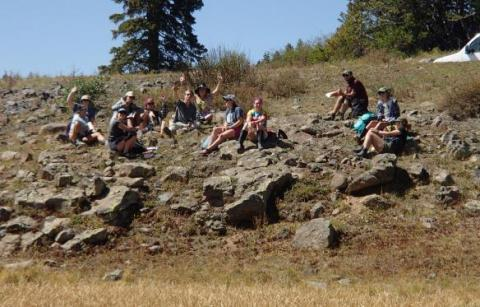 Field Quarter students take a break from field work in Grand Mesa, CO