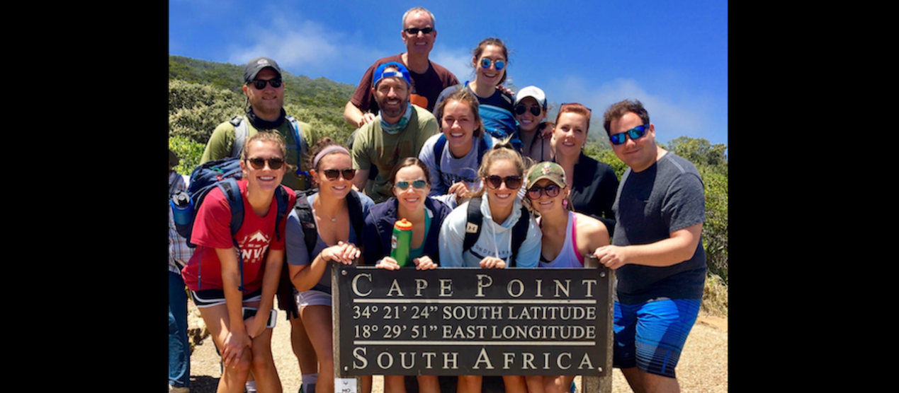 geography students on field quarter in south africa